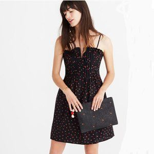 Madewell Pintuck Cami Dress in Fresh Strawberries